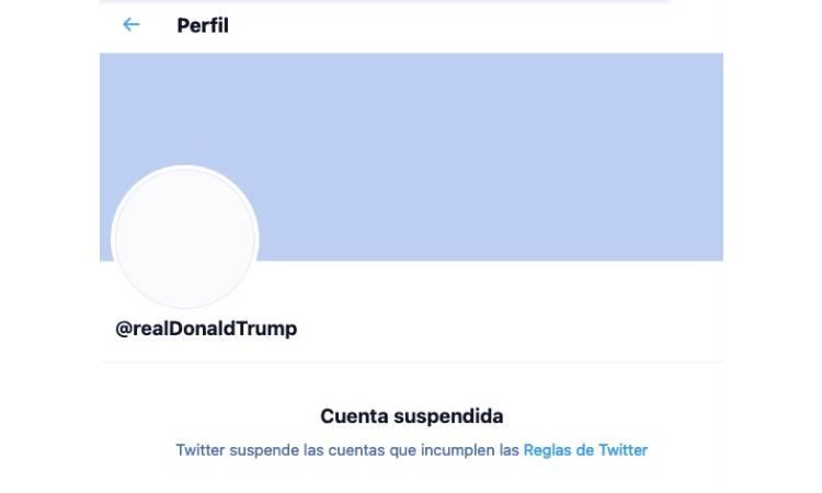 Twitter bloqueó temporalmente la cuenta de Donald Trump, misma con más de 88 millones de seguidores, luego del asedio al Capitolio por parte de manifestantes pro-Trump