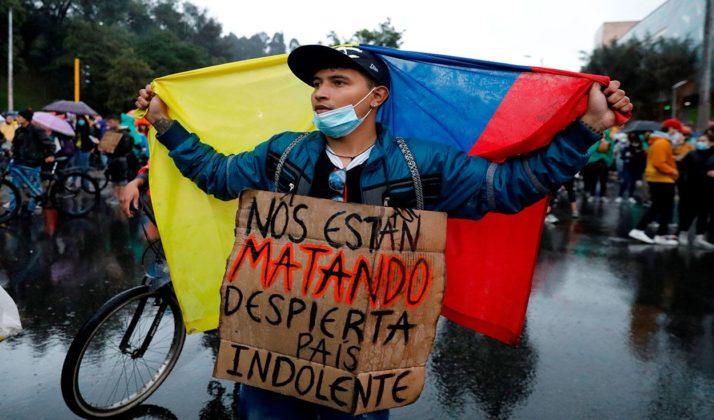 paro represión colombia